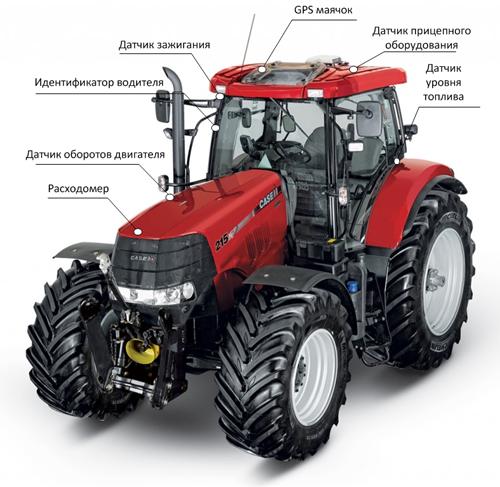 трактор с GPS