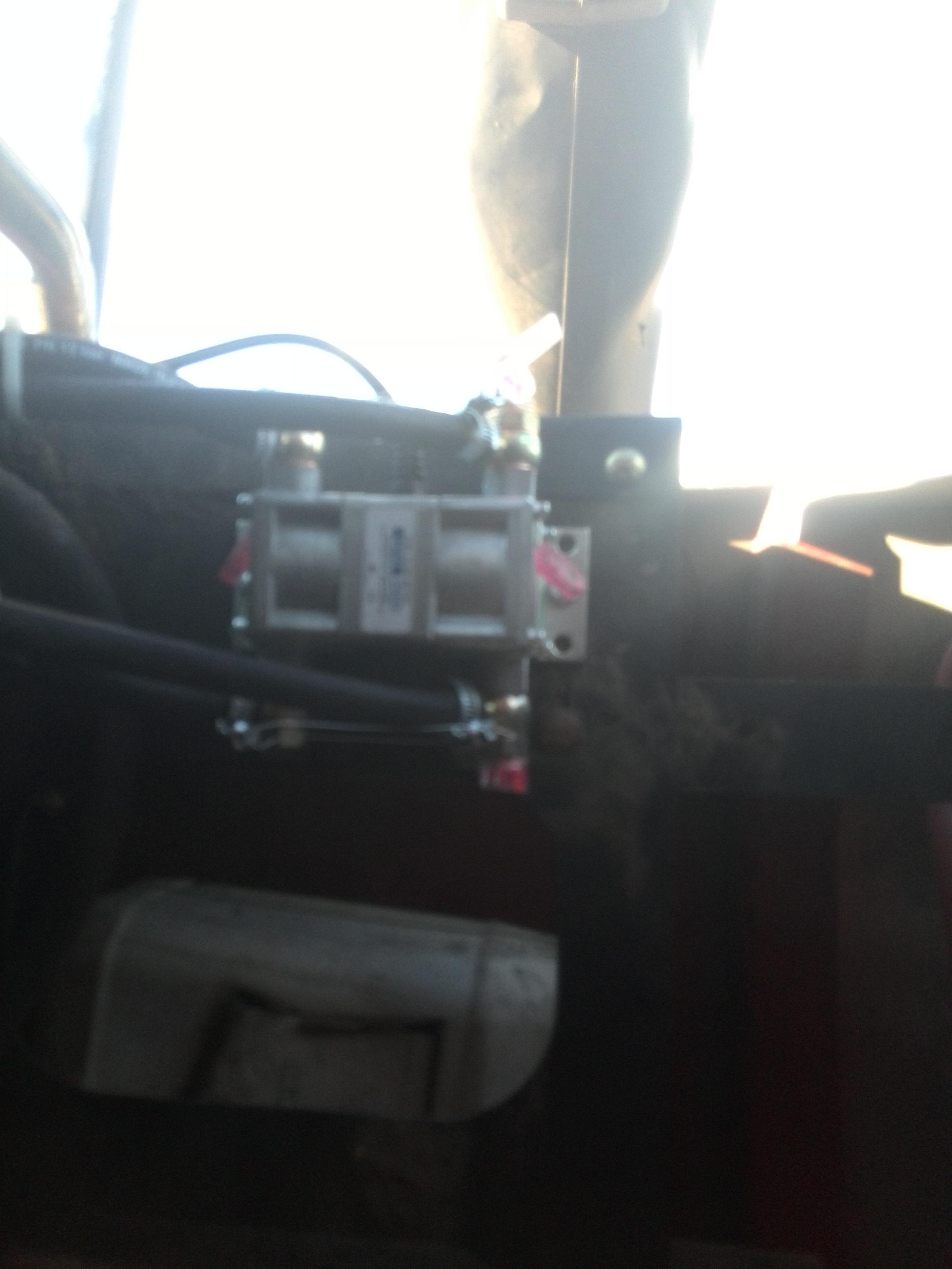 контроль GPS и счетчик на комбайне case