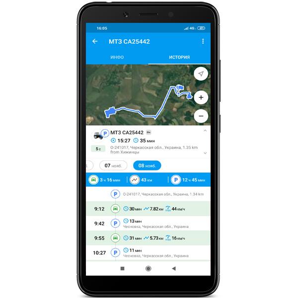 Мобильное приложение для GPS мониторинга