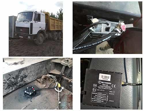 Общий вид системы GPS мониторинга-приборы