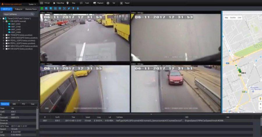 видео мониторинг на транспорте