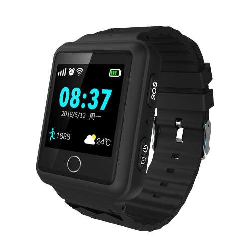Чёрные смарт часы со встроенным GPS трекером